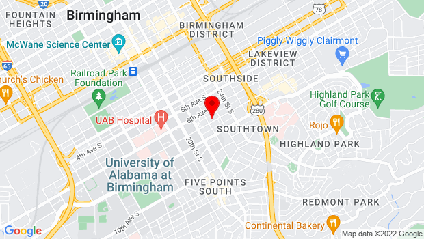 Google Map of 2208 7th Ave S, Birmingham, AL 35233