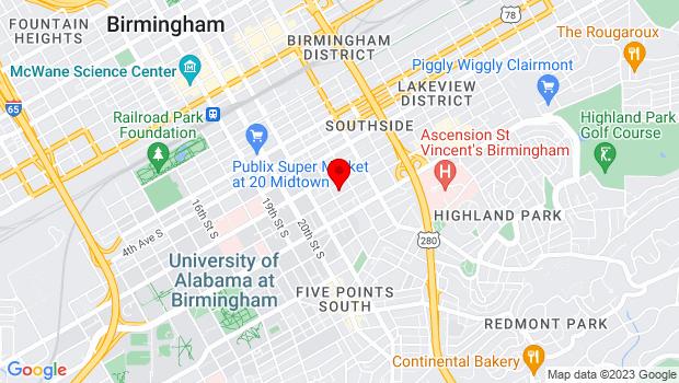 Google Map of 2208 7th Avenue South, Birmingham, AL