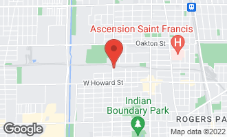 Map of 221 Dodge Avenue D EVANSTON, IL 60202