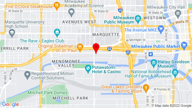 Google Map of 2210 W Mt. Vernon Ave/1505 W St. Paul Ave, Milwaukee, WI 53233