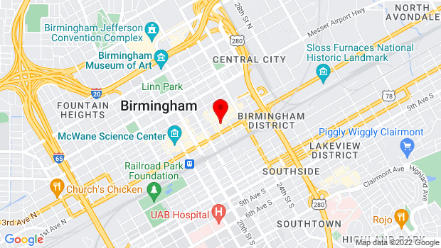 Google Map of 2211 2nd Ave North, Birmingham, AL 35203