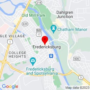 Google Map of 2215 Plank Rd Fredericksburg, VA 98606