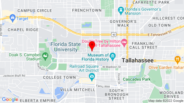Google Map of 222 S. Copeland Street, Tallahassee, FL 32306