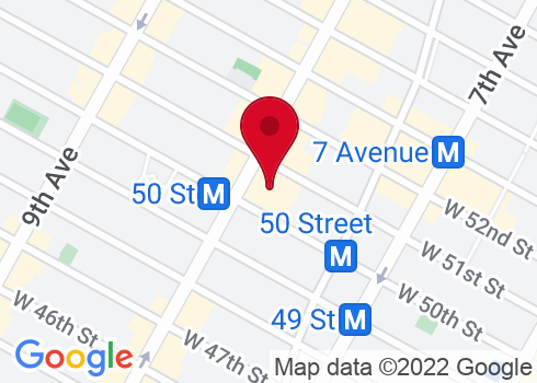 Gershwin Theatre Google Maps Location