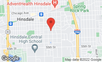 Map of 222 East 6th Street HINSDALE, IL 60521