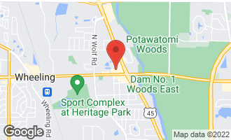 Map of 222 East Dundee Road Wheeling, IL 60090