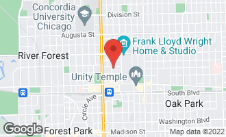 Map of 222 North Marion Street 1B OAK PARK, IL 60302