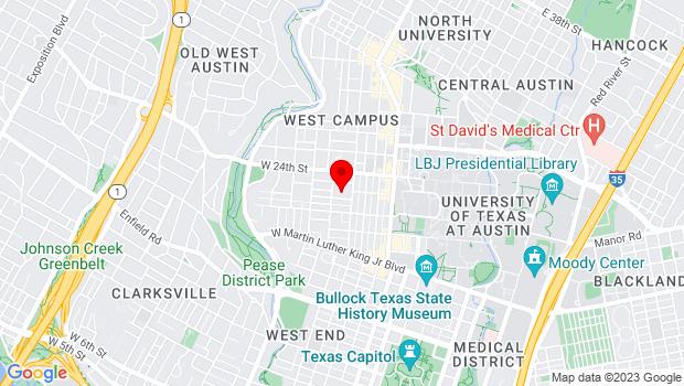 Google Map of 2222 Rio Grande St., Austin, TX 78705