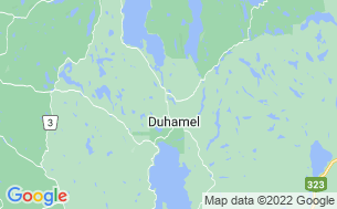 Map of Duhamel Camping & Chalets