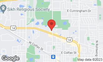 Map of 223 West Lynn Drive #6 PALATINE, IL 60067