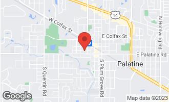 Map of 223 West Slade Street PALATINE, IL 60067
