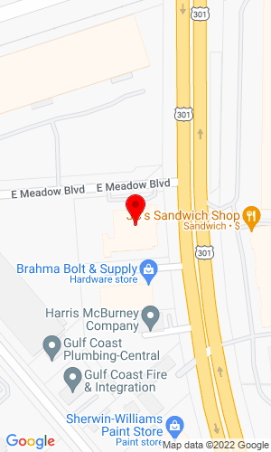 Google Map of MacKinnon JCB 2230 N. US Highway 301, Tampa, FL, 33619