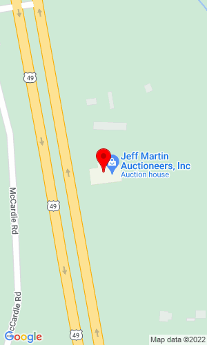 Google Map of Jeff Martin Auctioneers, Inc 2236 Hwy 49 , Brooklyn, MS, 34925