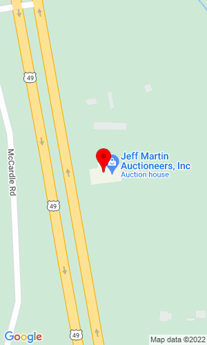 Google Map of Durham Auctions, Inc. 2236 Hwy 49 South, Brooklyn, MS , 39425