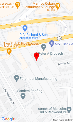 Google Map of Drobach Equipment Rental Compamy 2240 Route 22 E, Union, NJ, 07083