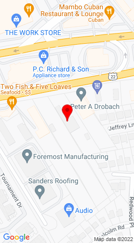 Google Map of Peter A. Drobach Co. 2240 U.S. 22, Union, NJ, 7083
