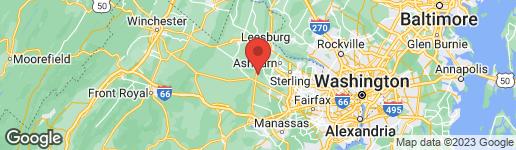 Map of 22443 CREIGHTON FARMS DRIVE LEESBURG, VA 20175
