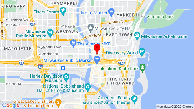 Google Map of 225 E Michigan St, Milwaukee, WI 53202
