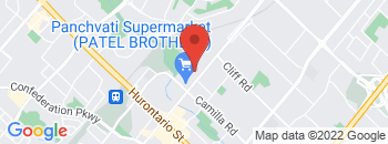 Google Map of 225+Dundas+Street+East%2CMississauga%2COntario+L5A+1W8