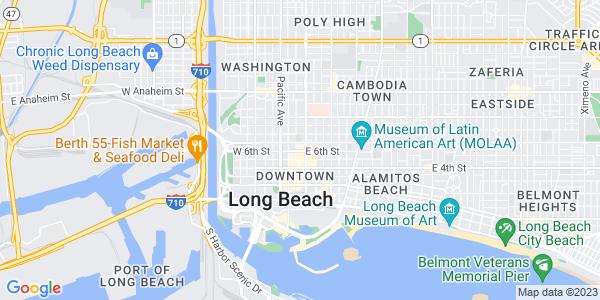 Google Map of 225+E.+6th+Street.+Long+Beach%2C+CA+90802+USA