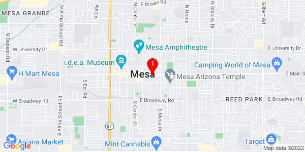 Map of Benedictine University at Mesa
