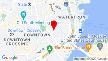 Google Map of 225 Franklin St, 26th Floor, Boston, MA 02110, USA