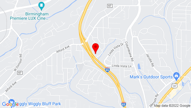 Google Map of 2250 Blue Ridge Blvd, Birmingham, AL 35226