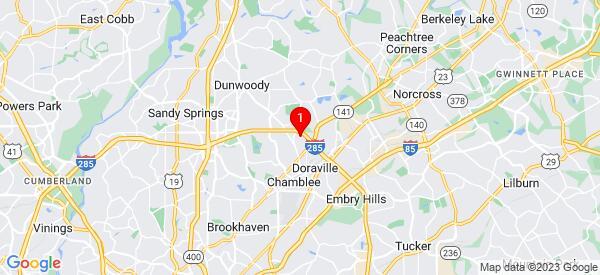 Google Map of 2252 nancy creek dr Chamblee, ga