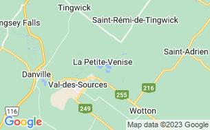 Map of Camping Villa Du Campeur Des Trois-Lacs