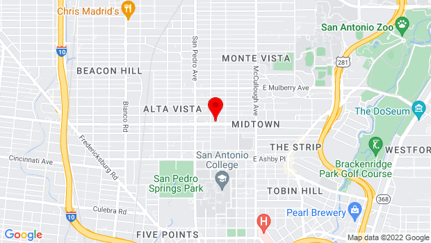 Google Map of 227 West Woodlawn Ave, San Antonio, TX 78212