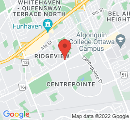 Google Map of 2273+Baseline+Road%2COttawa%2COntario+K2C+0E1