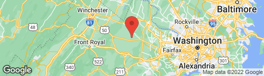 Map of 22775 FOXCROFT ROAD MIDDLEBURG, VA 20117