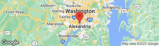 Map of 228 Washington Street S Alexandria, VA 22314