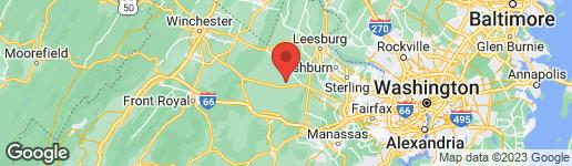 Map of 22876 FOXCROFT ROAD MIDDLEBURG, VA 20117