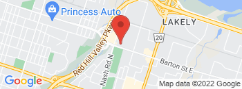Google Map of 2289+Barton+Street%2CHamilton%2COntario+L8E+2W8