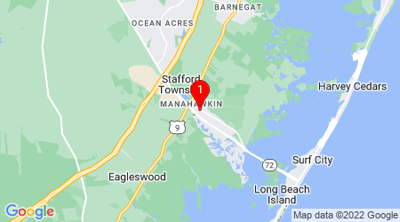 Google Map of 229 Cranmer Dr Manahawkin, NJ 08050