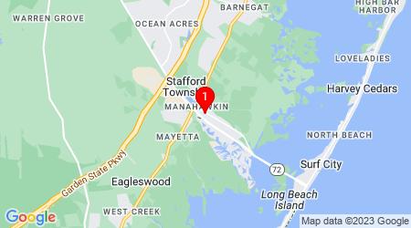 Google Map of 229 Cranmer Dr Manahawkin, NJ 08050