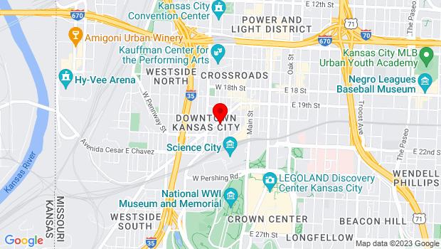 Google Map of 229 Southwest Boulevard, Kansas City, MO 64108