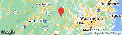 Map of 22941 FOXCROFT ROAD MIDDLEBURG, VA 20117