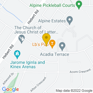 Map to LBs Pub provided by Google