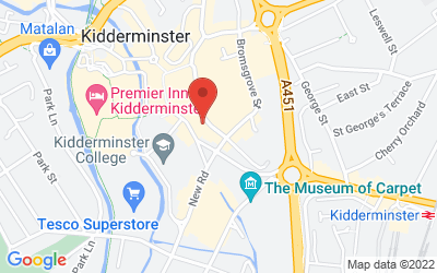 Map of Academy Kidderminster