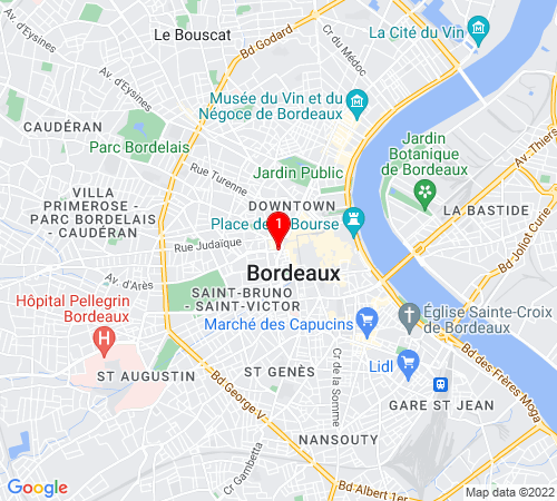 Google Map of 23 rue Edmond Michelet, 33000 Bordeaux