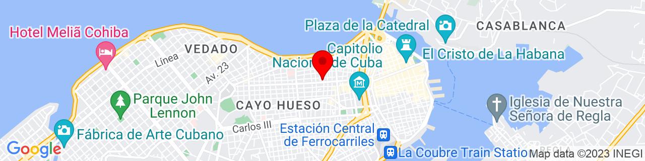 Google Map of 23.1379911, -82.3658562