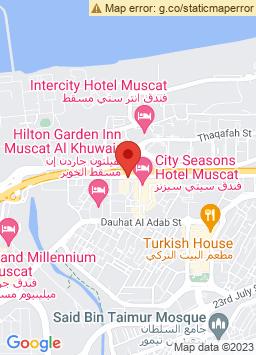 Google Map of City Seasons Hotel Muscat