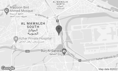 Map of Muscat City Center, Al Mawaleh South in Muscat