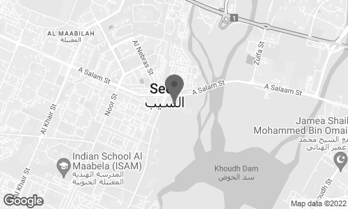 Map of Salam street in Seeb