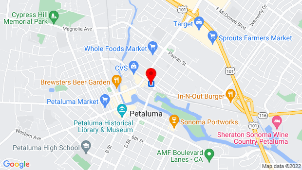 Google Map of 230 Lakeville St., Petaluma, CA 94952