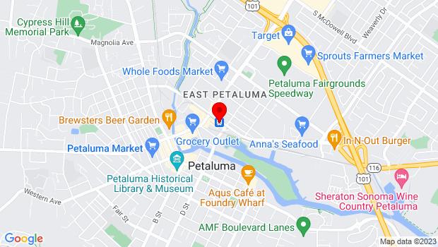 Google Map of 230 Lakeville Street, Petaluma, CA 94952