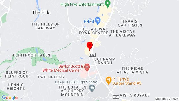 Google Map of 2300 Lohman's Spur Road Suite 160, Austin, TX 78734