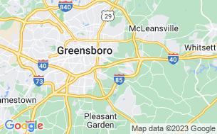 Map of Greensboro NC KOA